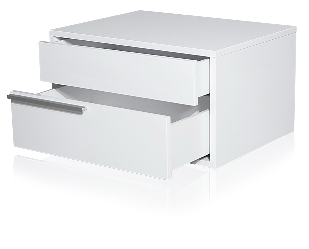 Lea Contemporary Night Stand White