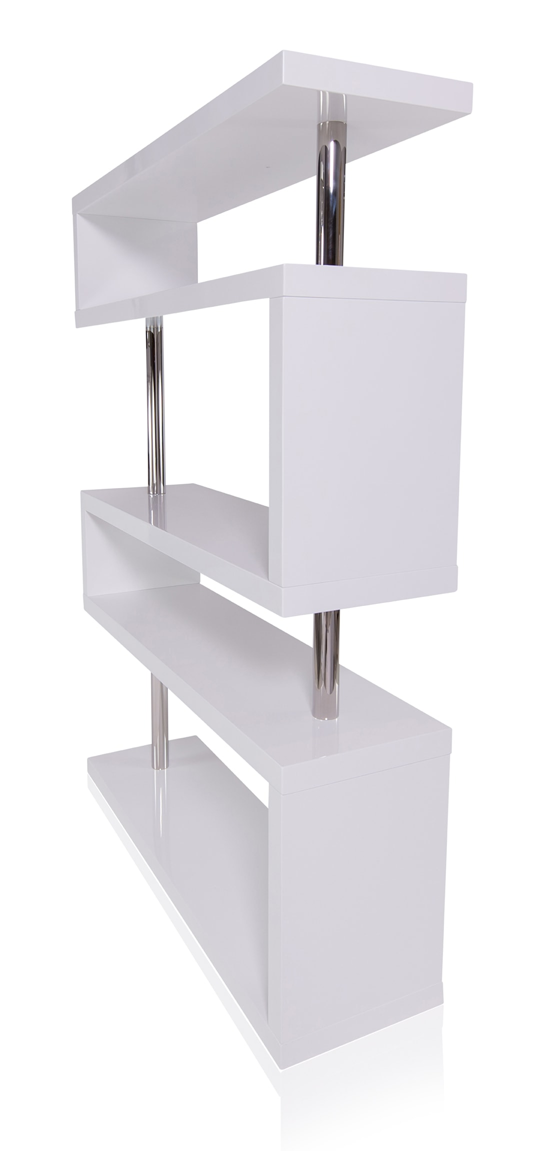 Edan Mid Century Modern Shelf White