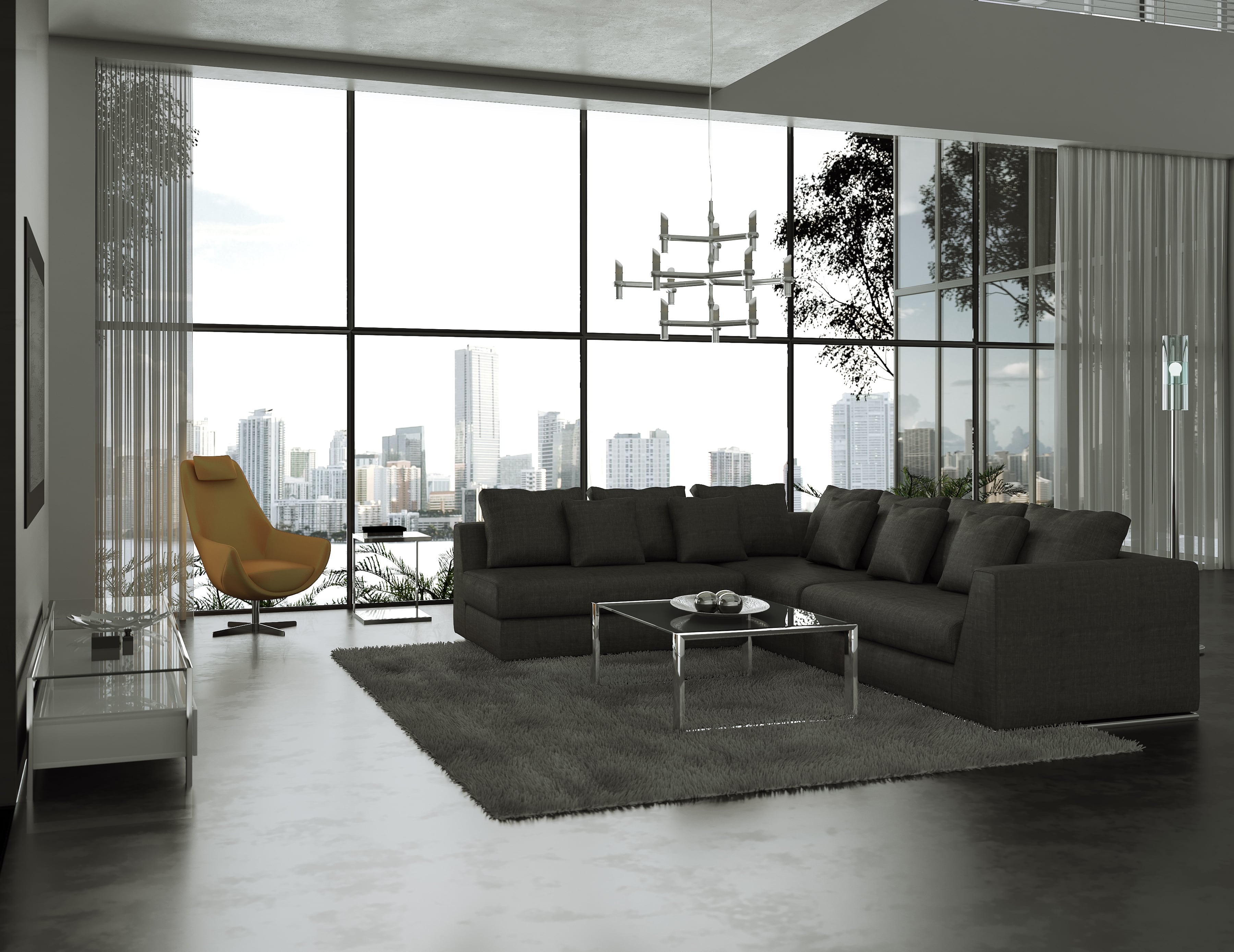 Giovani Fabric Contemporary Sofa Gray