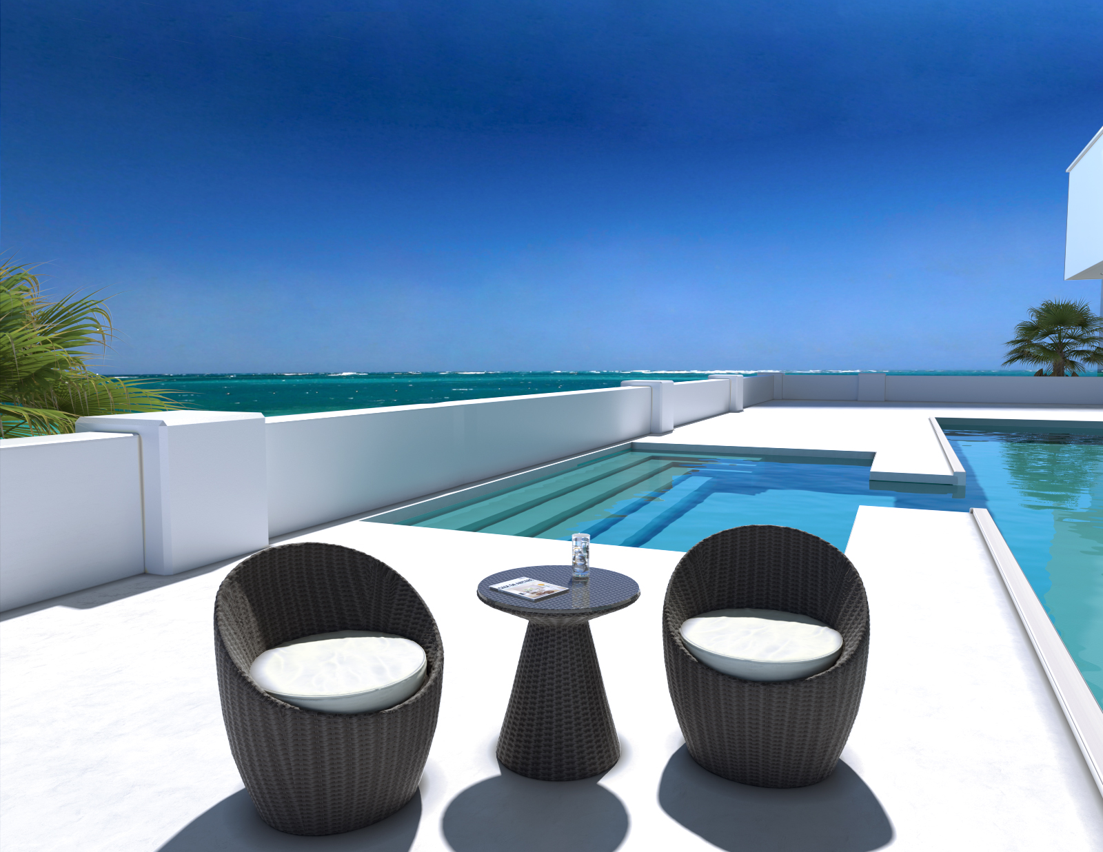 Ivy Outdoor Modern Balcony Set