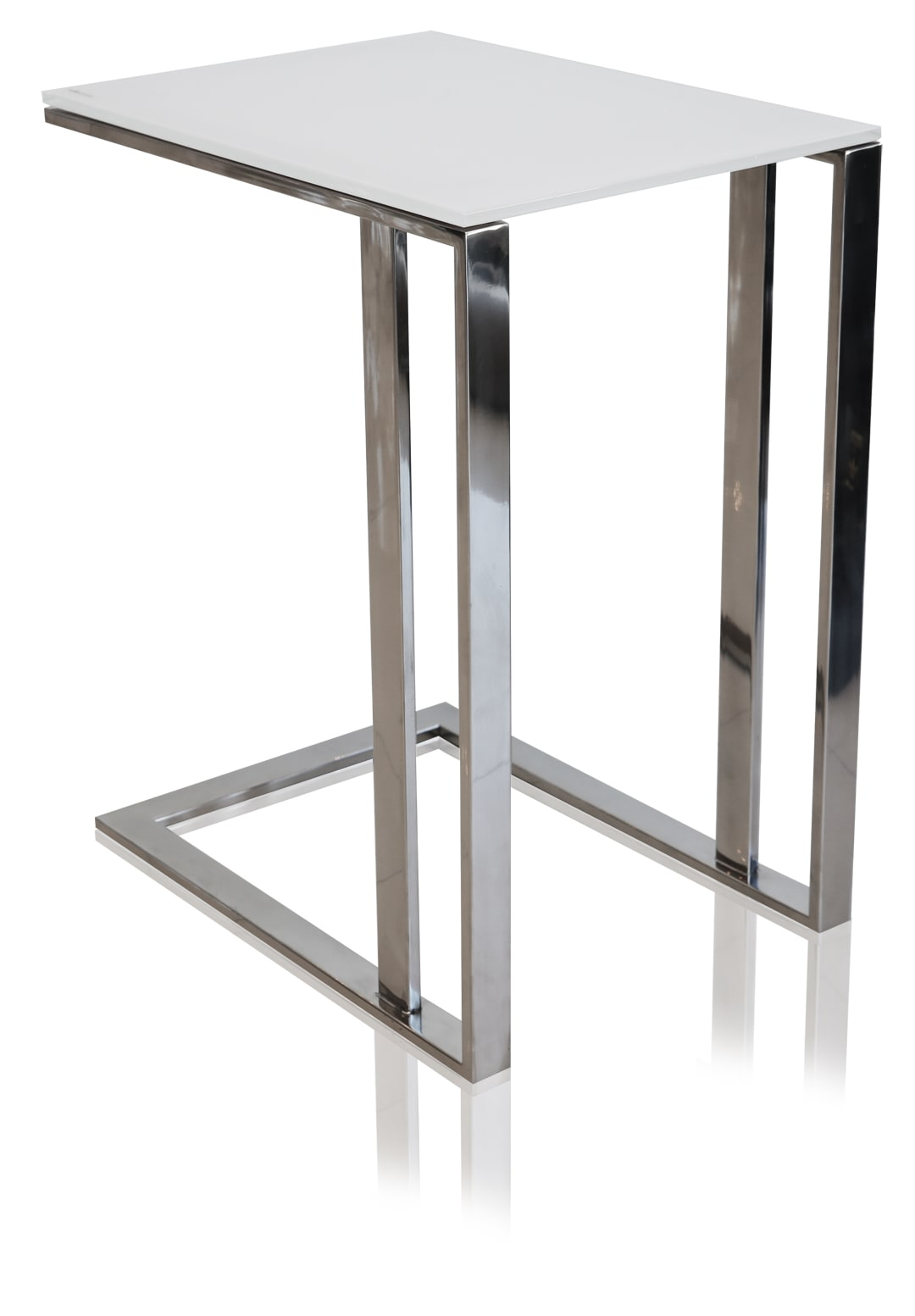 modern khloe glass side table white  stunningly modern. khloe glass modern side table white