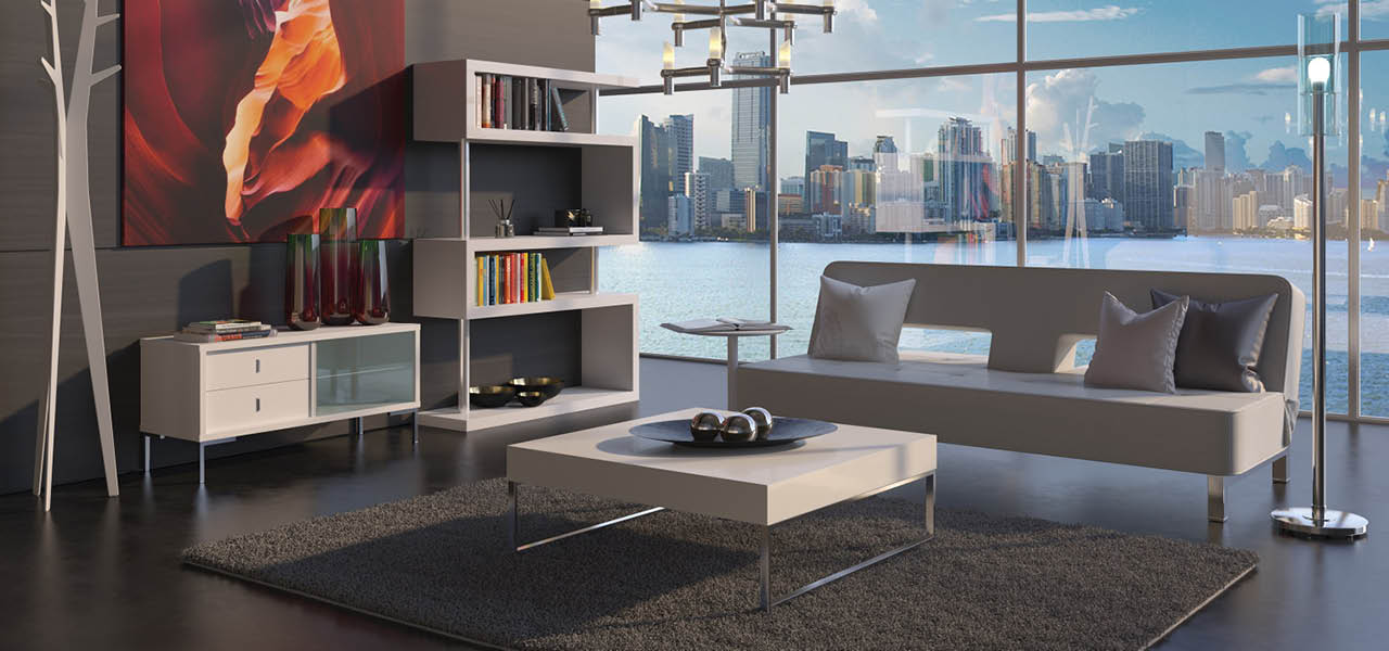 Gavino Modern Coffee Table White