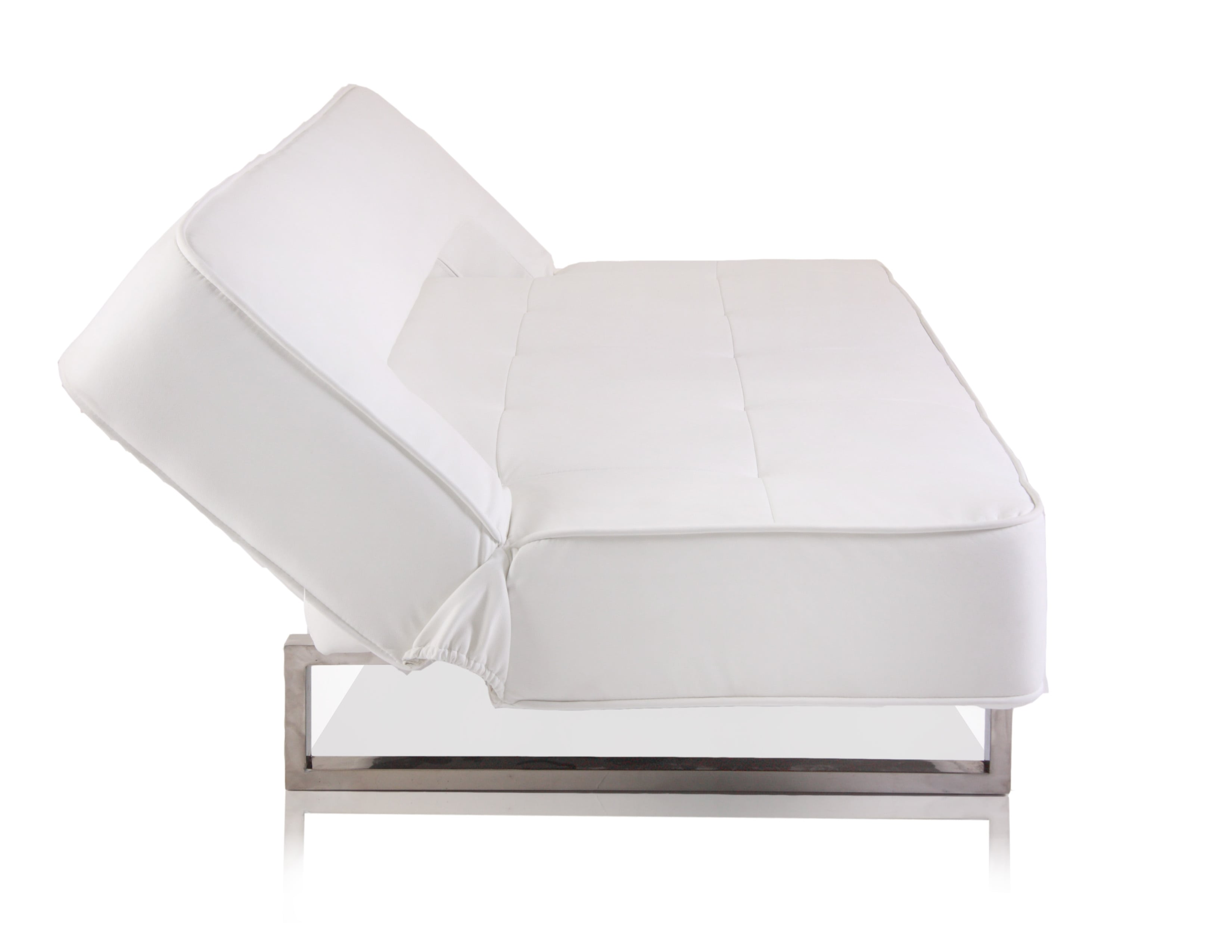 Miamo 3 seater eco leather modern sofa bed white for White divan bed