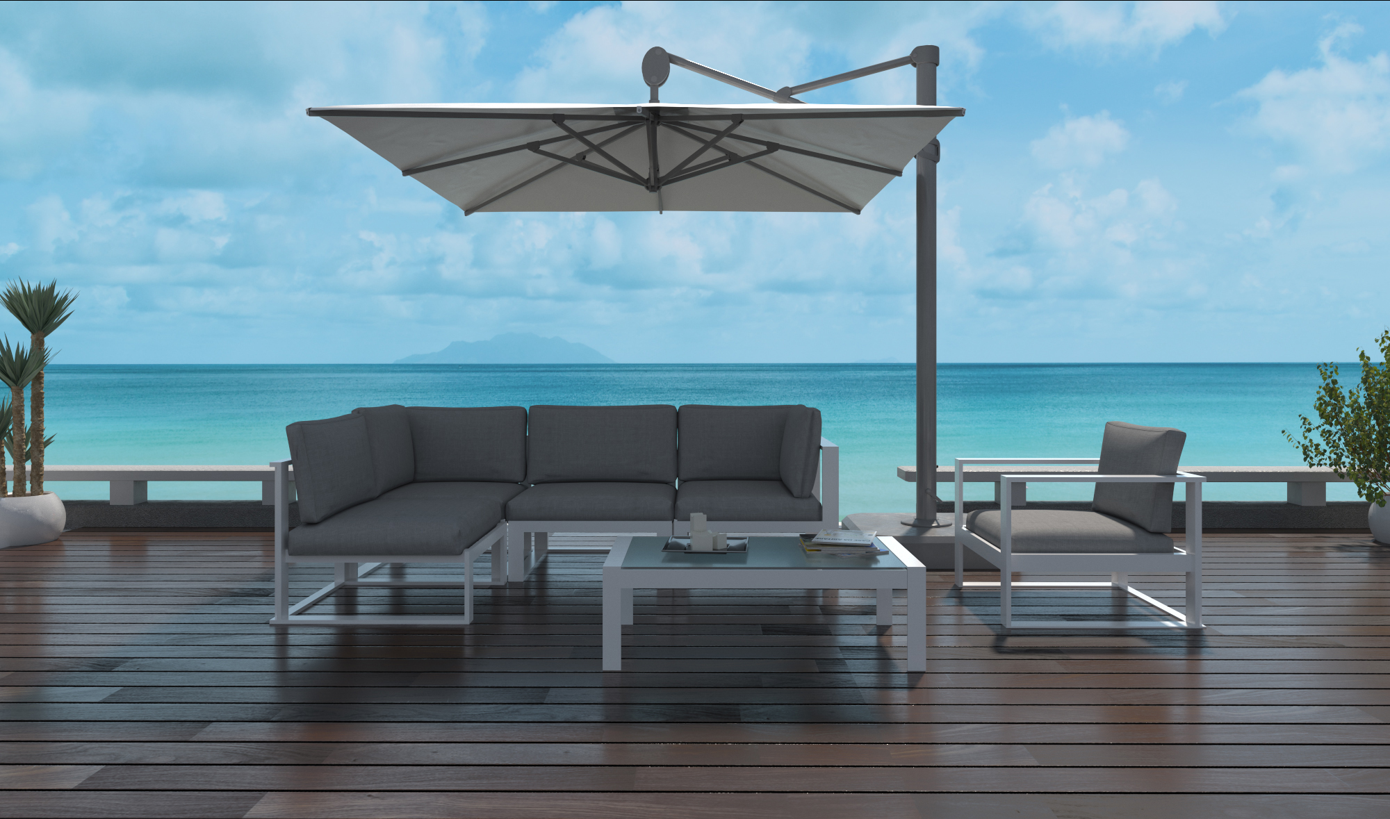 Santino Modern Small Sectional Sofa Is Patio Paradise