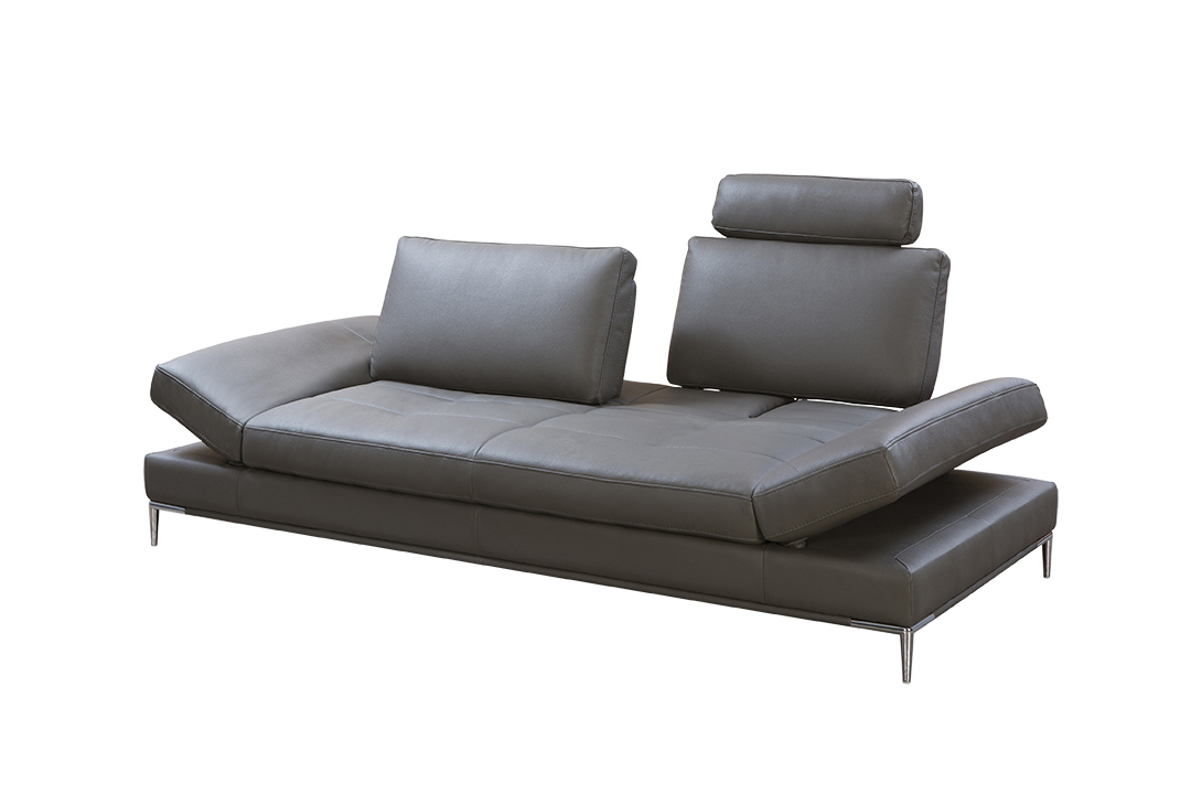 Dark Gray Sullivan Premium Sofa With Reclining Headrests