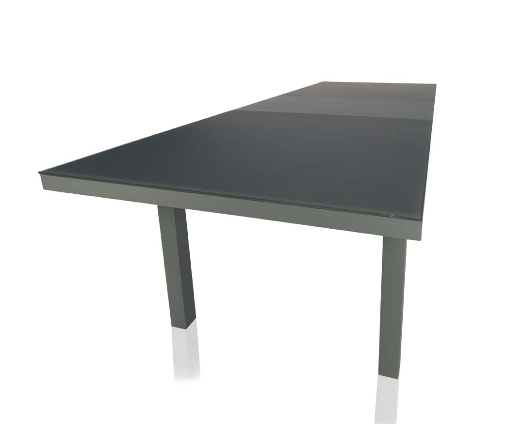 Black outdoor dining table - Vitale Outdoor Extendable Modern Dining Table Gray